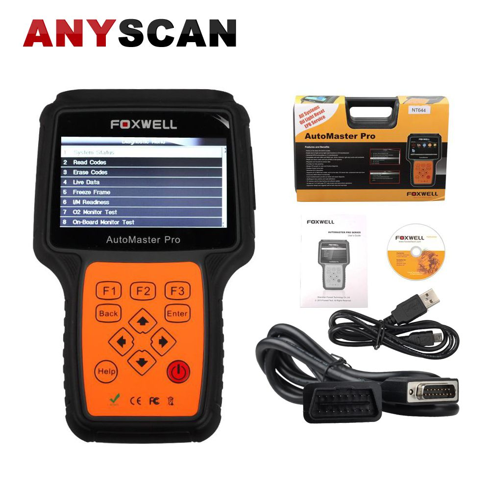 Original FOXWELL NT644 AutoMaster Pro All Systems All Makes Scanner with Special Functions EPB Oil Service Auto Diagnosis
