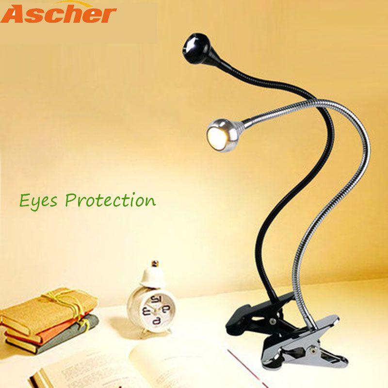 Führte Flexible Tisch Lampe Clip Halter Schreibtisch Lampe Nacht Lampe Buch Licht USB Power Für Die Schlafzimmer Wohnzimmer Hause dekoration