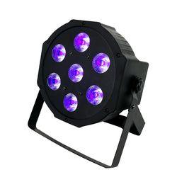SHEDHS LED Flat Par 7x3 W Couleur Violette Éclairage UV Avec DMX512 pour Disco DJ Party Décoration Violet PAR LED Effet lumières