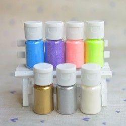 DIY Gaufrage Poudre Métallique Peinture Brillant Or Argent 10 ml