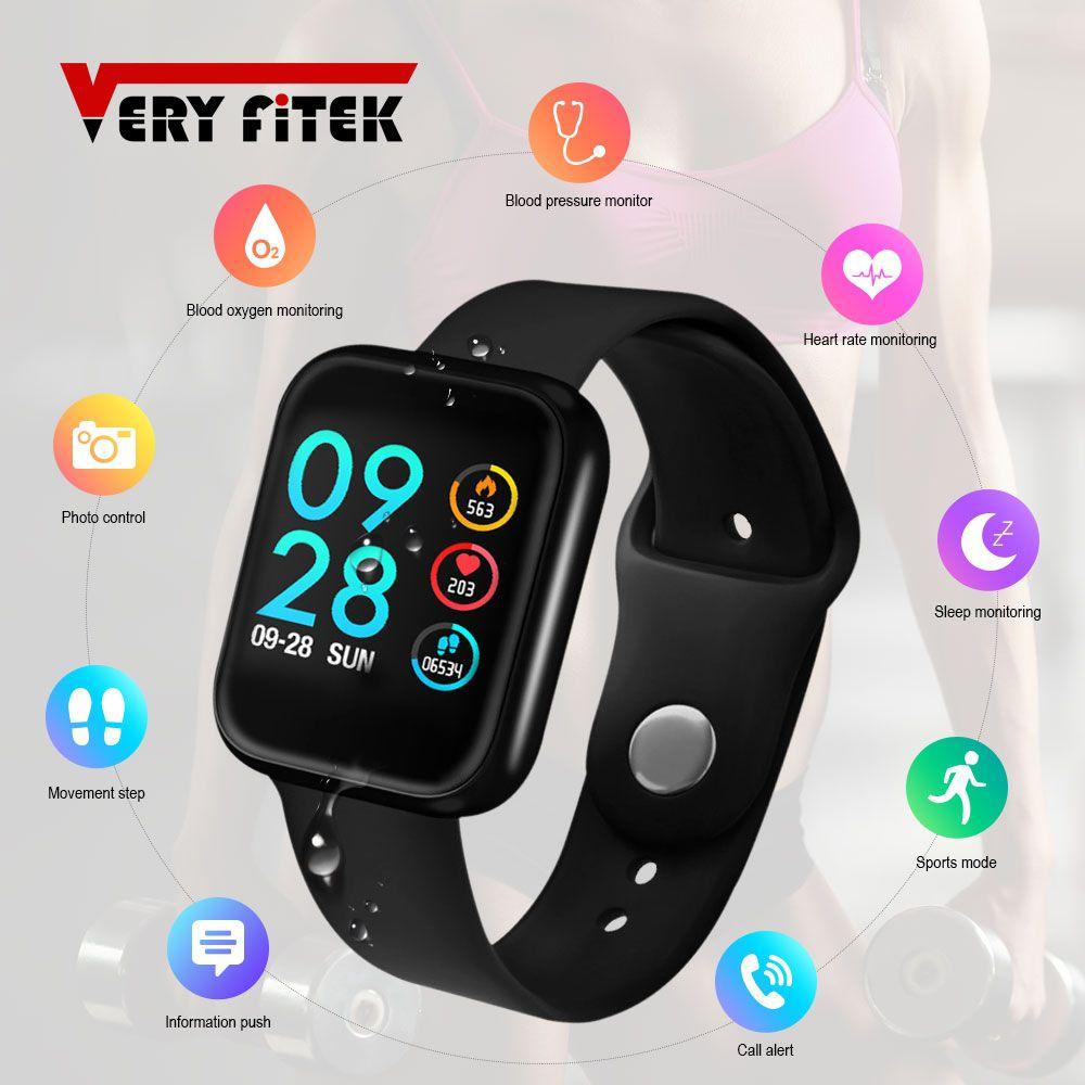 VERYFiTEK P70 Smart Watch Blood Pressure Heart Rate Monitor IP68 Fitness Bracelet Watch Women Men Smartwatch for IOS Android