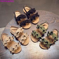 HaoChengJiaDe niños zapatos niñas sandalias verano moda flor niños sandalias para niños Casual zapatos playa sandalias niñas