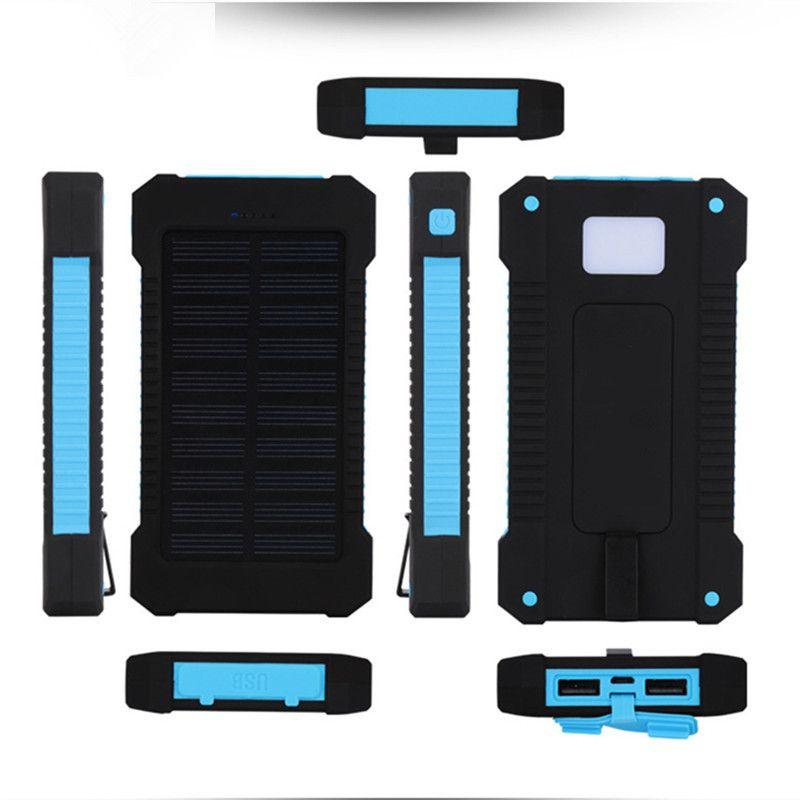 Solaire Power Bank Double USB Voyage Puissance Banque 20000 mah Externe Cas de Chargeur de Batterie Externe Portable Pack Pour Xiaomi Mobile téléphone