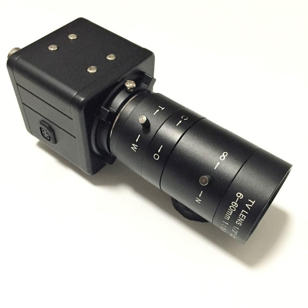 HD 700TVL Sony CCD CCTV Varifocal Box Camera OSD D-WDR 6-60mm Lens