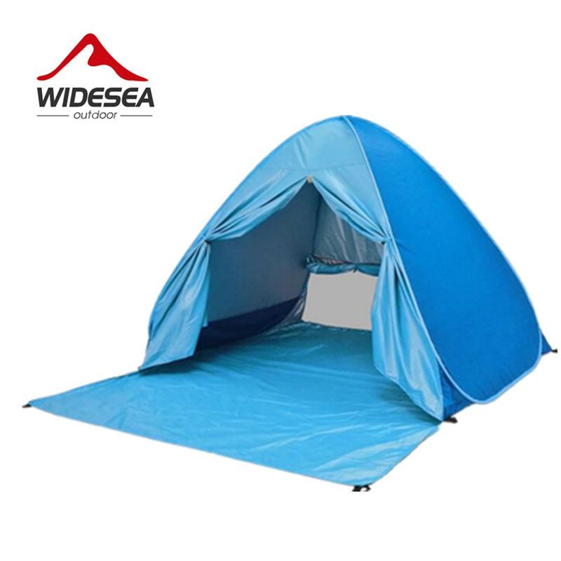 Widesea beach tent pop up open 2-3 person sunshelter kids grow tent UV-protect quick automotic open indoor or outdoor camping