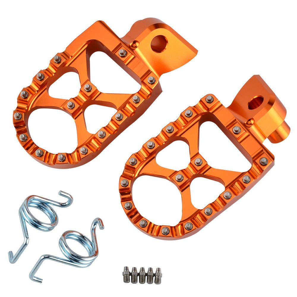MX Repose-pieds Reste Pédales Repose-pieds Pour KTM EXC SX SXF XC XCF EXCF EXCW XCFW MX SIX JOURS 65 85 125 200 250 300 350 400 450 525 530