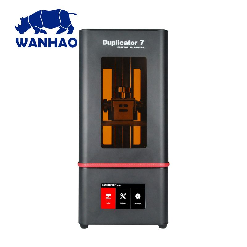 2018 newest DLP LCD SLA WANHAO D7 PLUS Resin Jewelry Dental 3D Printer upgrade by D7 model with touchable nano box connected
