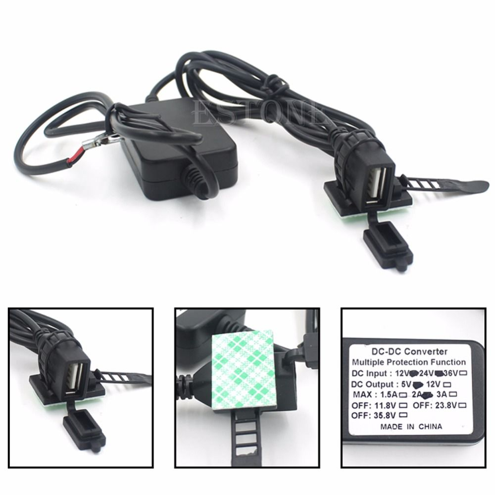 New 2017 arrival Dual USB Powerport Charger for Smartphone iPhone Android GPS Motorcycle 12V 2A Hot Sale