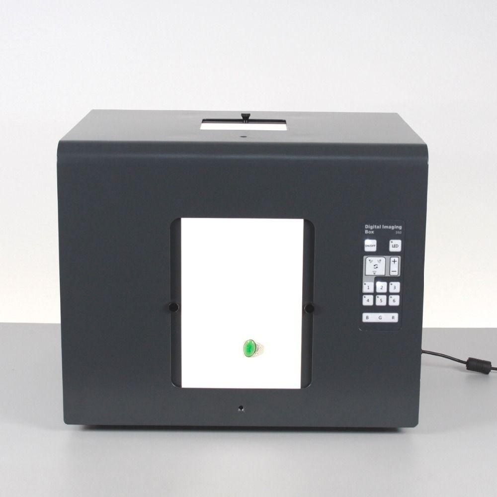 Sanoto envío gratis marca LED Mini Photo Studio caja fotografía luz foto caja Softbox B350 joyería, diamantes cajas de luz
