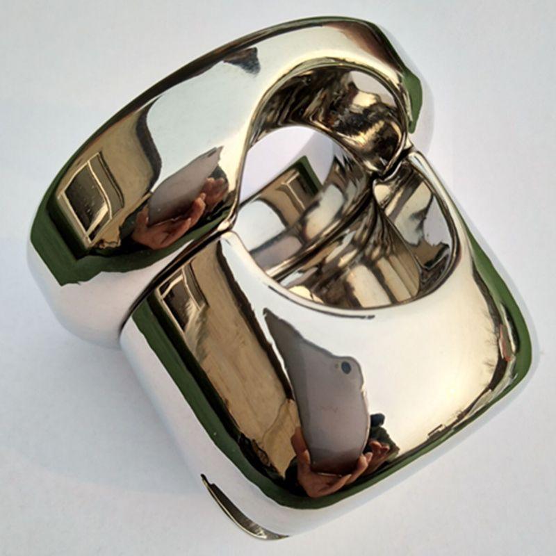 Schweren Oberen Edelstahl Hodensack Gewicht Anhänger Penis Zurückhaltung Locking Hoden Gewicht Keuschheitsgürtel Penisring Sex-spielzeug B2-66