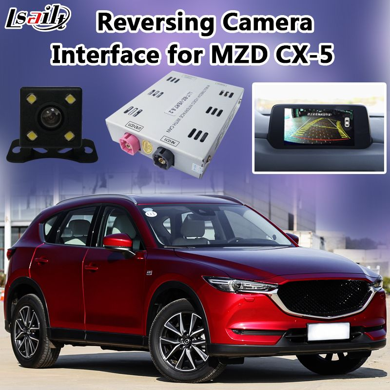 High Quality Backup Rear View Camera Interface for 2014-2017 Mazda CX-5 support Active Parking Guideline Front Camera Panorama