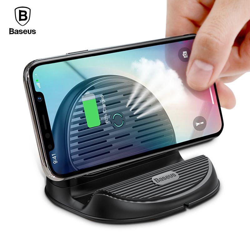 Baseus 10 W Qi Sans Fil Chargeur Pour iPhone Xs Max Xr X 8 Wireless Sans Fil Station de Recharge Dock Pour Samsung s9 S8 Xiaomi de Mélange 3 2 s