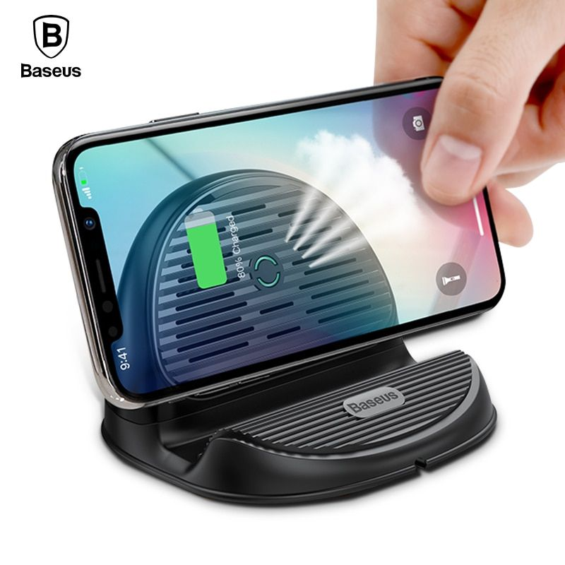 Baseus 10W Qi Wireless Charger For iPhone X 8 Silicone Wirless Charging Dock Station For Samsung Galaxy S9 S8 Plus <font><b>Xiaomi</b></font> Huawei