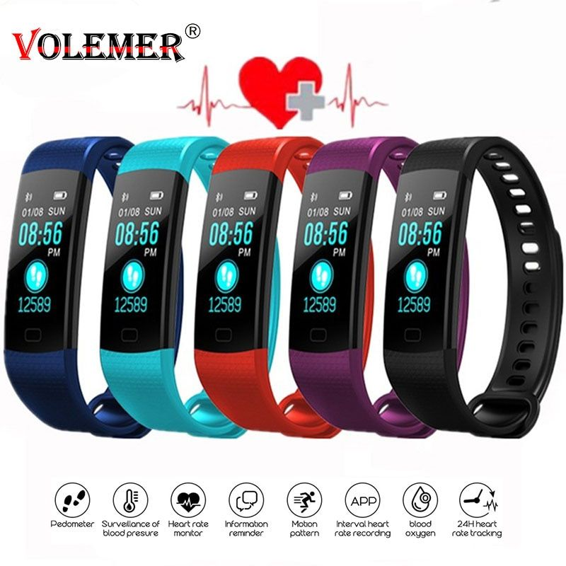 Y5 Bluetooth Bracelet intelligent écran couleur Smartband moniteur de fréquence cardiaque mesure de la pression artérielle Tracker de Fitness montre intelligente hommes