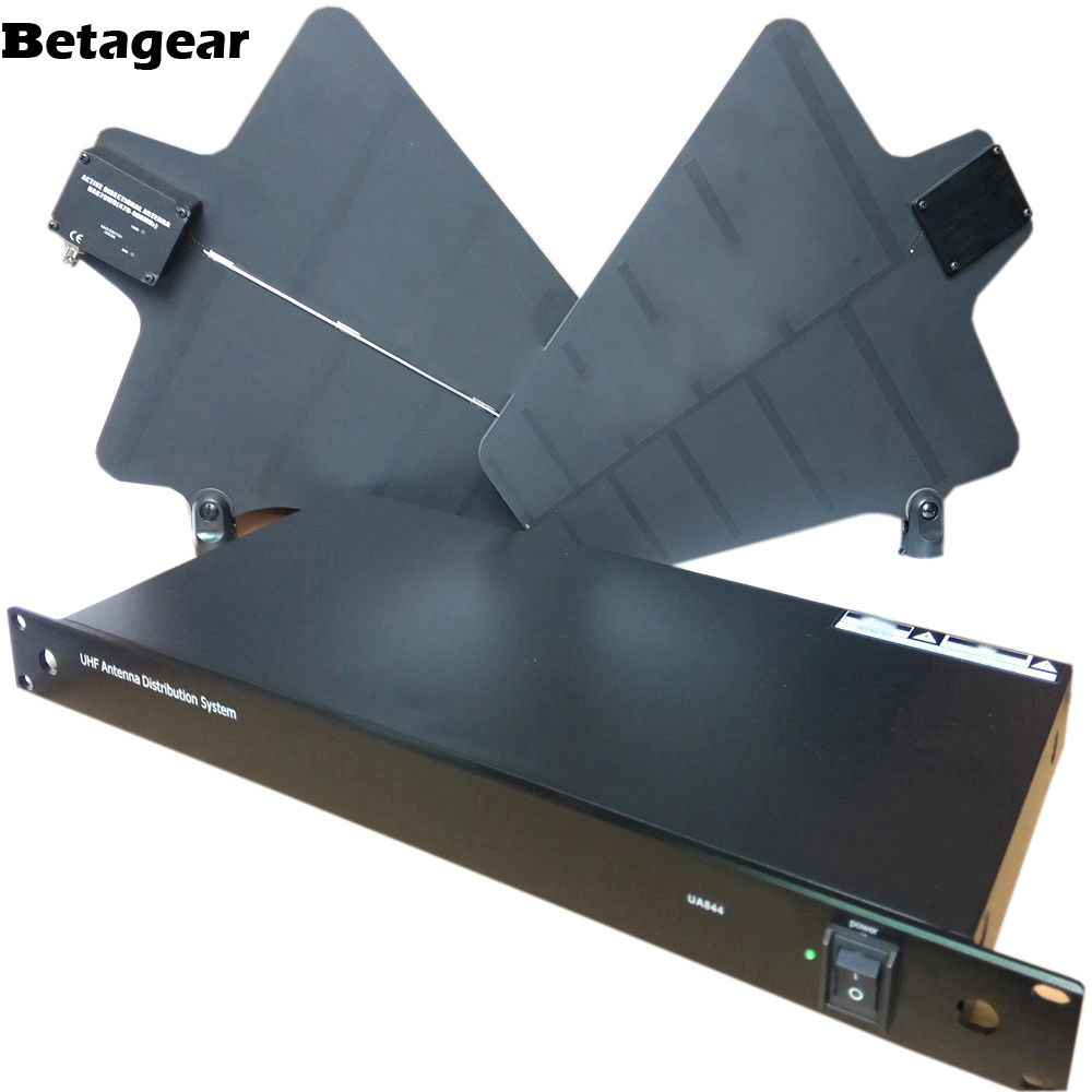 Betagear UA844 Antenna Distributor Splitter Collector Wideband 470-952MHz Wireless Antenna Distribution System For UHF Microfone