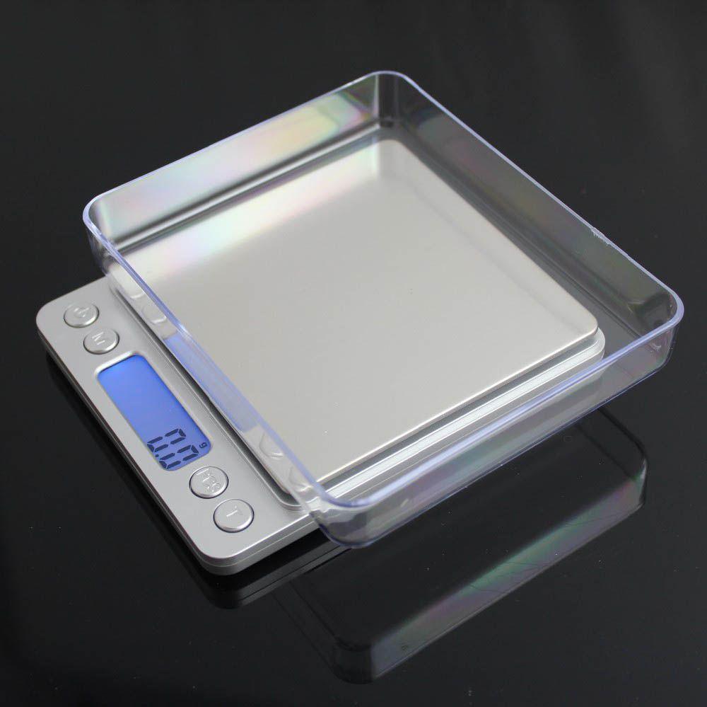 3000 г х 0.1 г Мини Цифровые Весы Взвешивания Кухонные Весы Electronic и ЖК-Дисплей г/унции/ct/дп Точности с 2 лотков 3 кг х 0.1 г