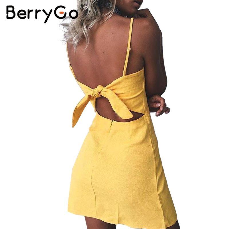 Berrygo лук Повседневная белье сексуальное платье спинки 2017 пляжные летнее платье женские сарафан Slim Fit Bodycon Белый Короткое платье vestidos