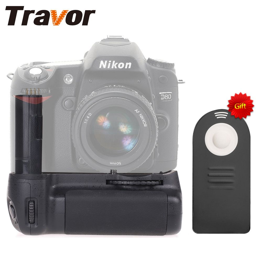 Travor Vertical Battery Grip <font><b>Pack</b></font> for Nikon D80 D90 DSLR Camera as MB-D80 Camera+universal remote control as a gift for free