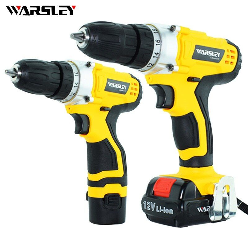 12v Electric Cordless Drill 2battery screwdriver power tools Mini Drill screw gun electric Tools rechargeable screwdriver
