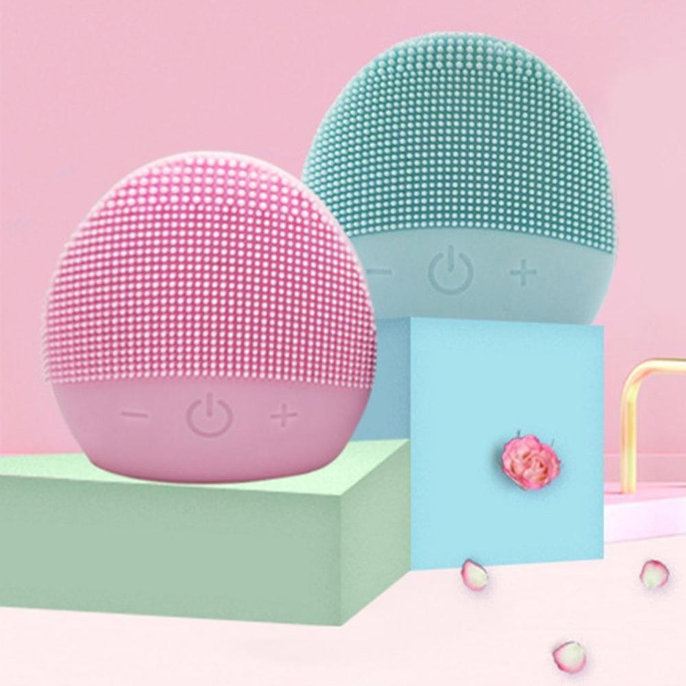 Nouvelle brosse de nettoyage du visage USB Vibration sonique Mini nettoyant pour le visage en Silicone nettoyage des pores en profondeur Massage électrique étanche