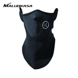 MALUOKASA Motorcycle Half Face Mask Cover Fleece Unisex Ski Snow Moto Cycling Warm Winter Neck Guard Scarf Warm Protecting Maske