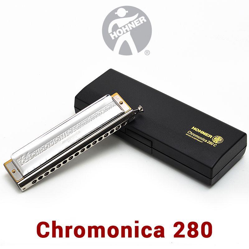 Hohner 280 Chromatic Harmonica Germany Original ABS Comb C Key Mouth Ogans Harmonica Chromatic 1664 Cromatica Armonica