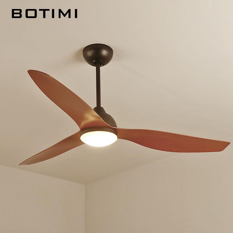 BOTIMI Neue Ankunft 52 Inch FÜHRTE Decke Fan Moderne Fan Lichter Fernbedienung Kühlung Decke Fans Hause Beleuchtung Fan Lampen Leuchten