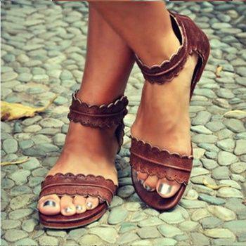 Femmes Sandales Rétro Appartements Sandales Pour Femmes Chaussures D'été 2018 Nouveau femmes À Bout Ouvert Chaussures de Plage Femmes Zip Casual Sandalias 42 43
