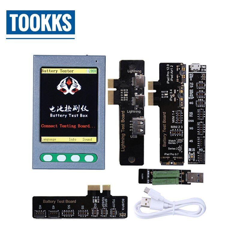 Battery Tester USB Cable Tester Apple Battery Checker for iPhone X 8 8P 7 7P 6S 6 6P 5 5S 4 Data Cable Tester