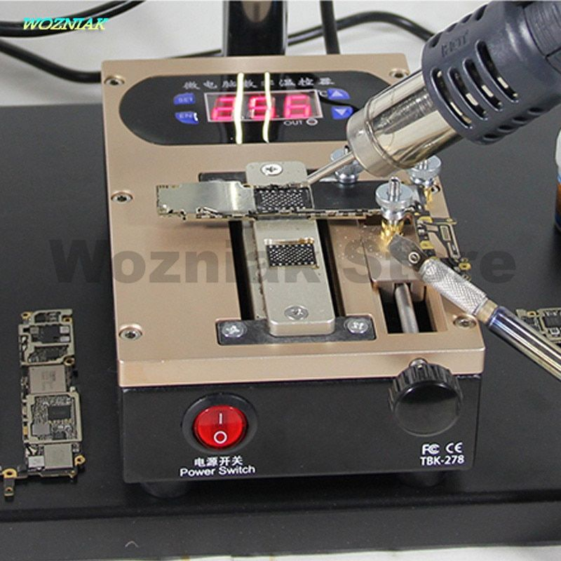 Wozniak 2in1 Mobile phone cover plate Bracket Separator Intelligent heating platform Disassemble A8 A9 CPU chip Glue removing