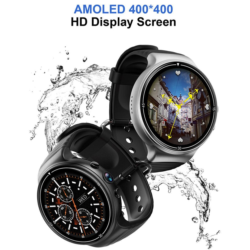 I8 Smart Watch Android 7.0 Smartwatch 4G GPS WIFI Smart Watch Phone Heart Rate 1GB + 16GB Memory With Camera PK LEM7