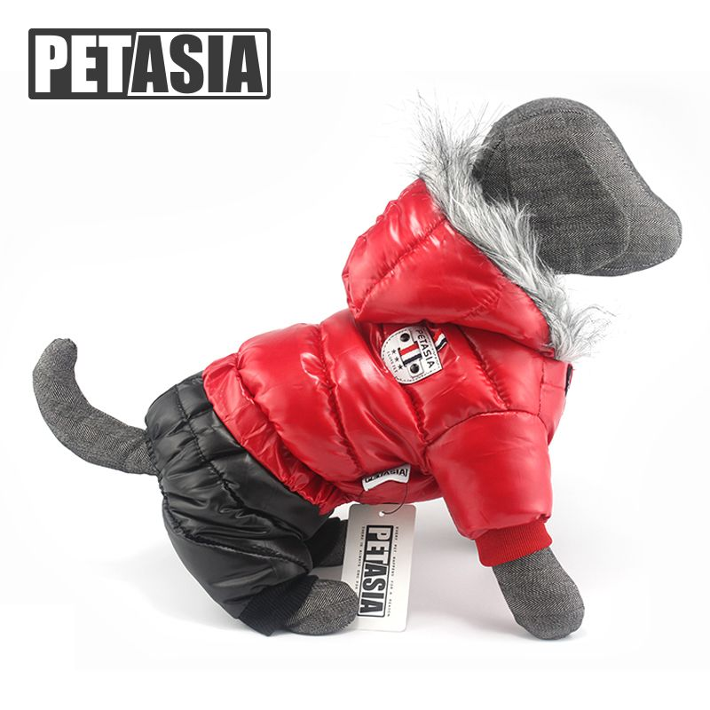 Pet Dog Clothes for Small Dogs Waterproof Fabric Dog Coat <font><b>Thickening</b></font> Dog Jacket Super Warm Snow Coat Clothing For Pet Chihuahua