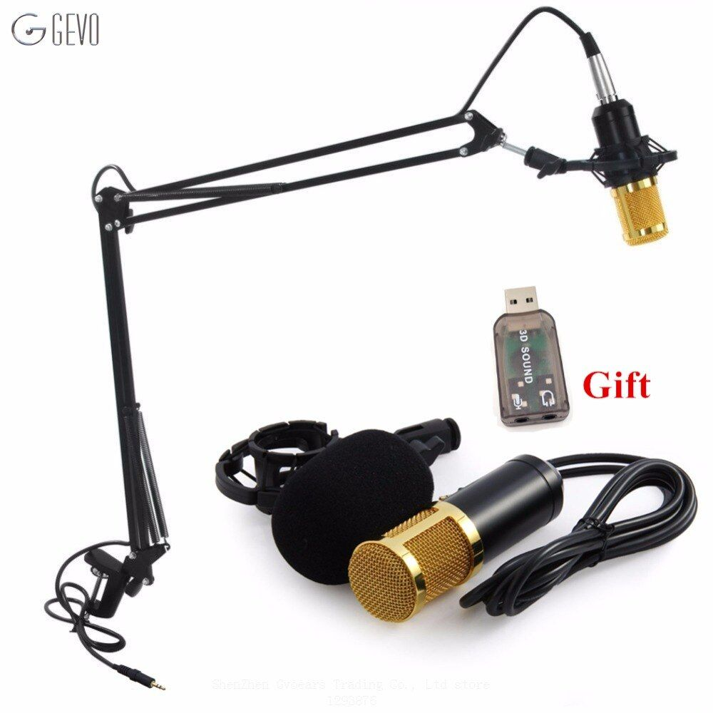 GEVO BM 800 Professional 3.5mm Wired Sound Recording Condenser Microphone BM800 NB-35 Microphone Stand For Computer Studios PC