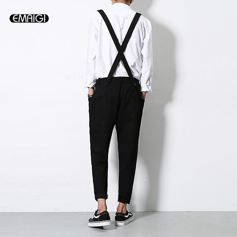 Men Jumpsuit New Summer Autumn Casual Harem Pants Bib Pants Overalls Male Fashion Hip-hop Trousers Jumpsuit A92