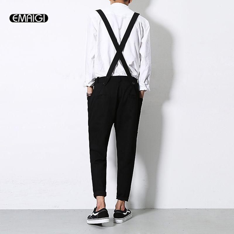 Men Jumpsuit New Summer Autumn Casual Harem Pants Bib Pants Overalls Male Fashion Hip-hop Trousers Jumpsuit A92