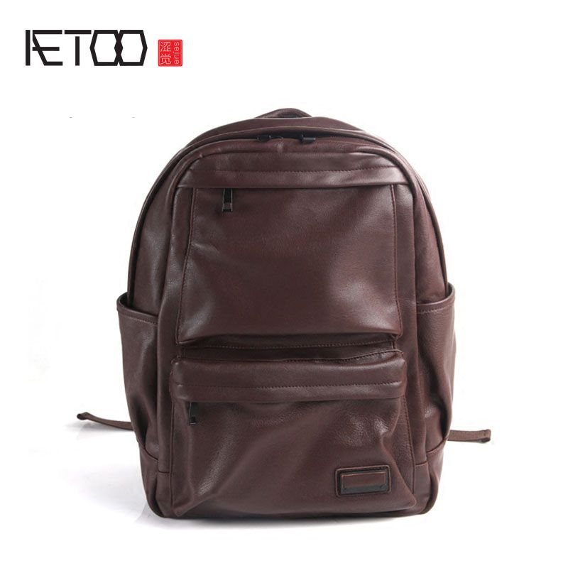 AETOO Pure leather Europe and the United States tide section fashion leisure retro bag leather bag backpack leather