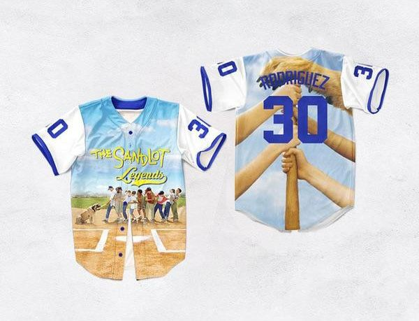 3d Printed Baseball Jersey The Sandlot Legends 30 Benny 'The Jet' Rodriguez 11 Yeah-Yeah 1 Legends-Timmons Mens 3D Shirt S-3XL