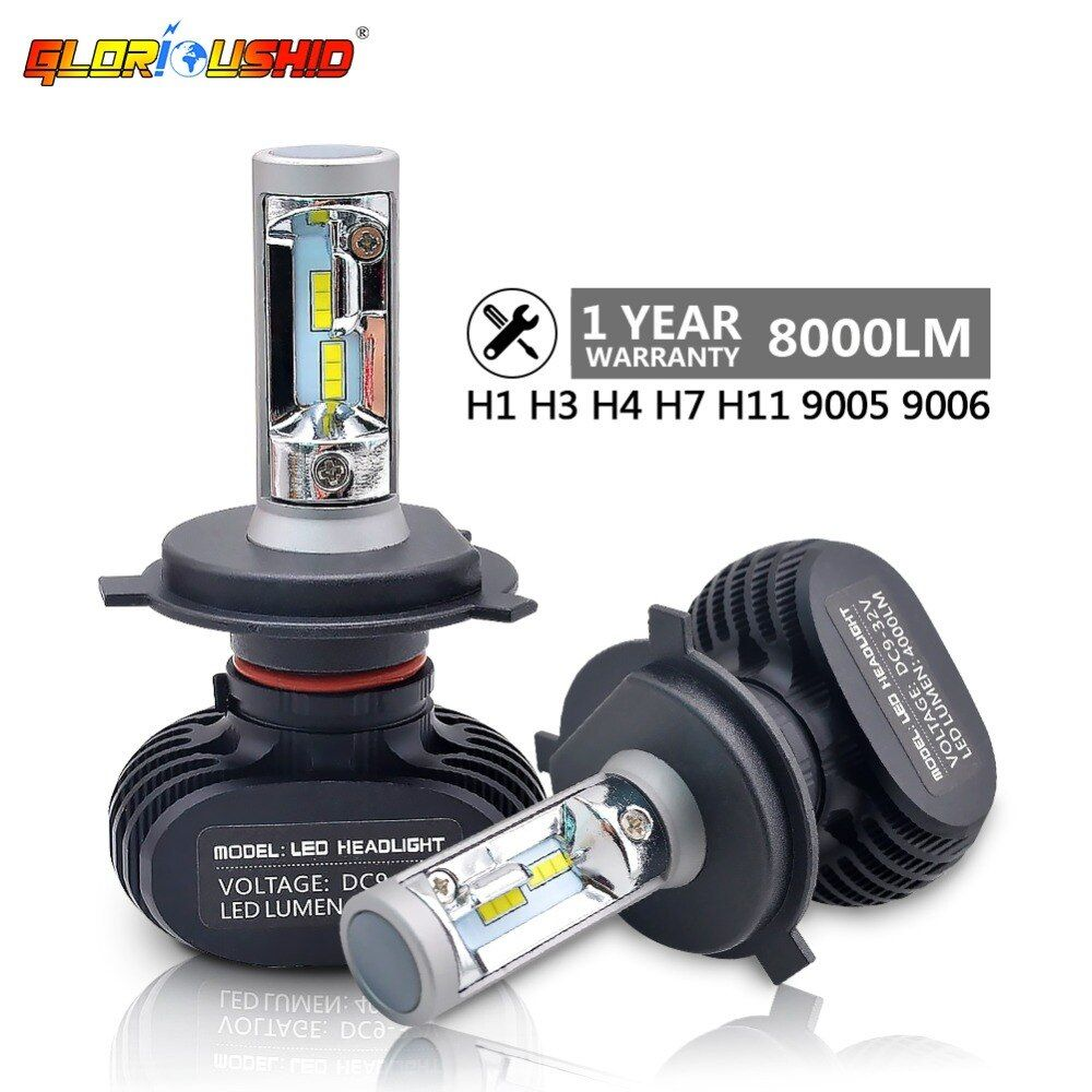 2pcs H7 Led H4 H11 H1 H3 9005 <font><b>9006</b></font> Car LED Headlight Auto fog Lamp 50W 8000LM Automobile Bulb Chips CSP 6500K Car lighting