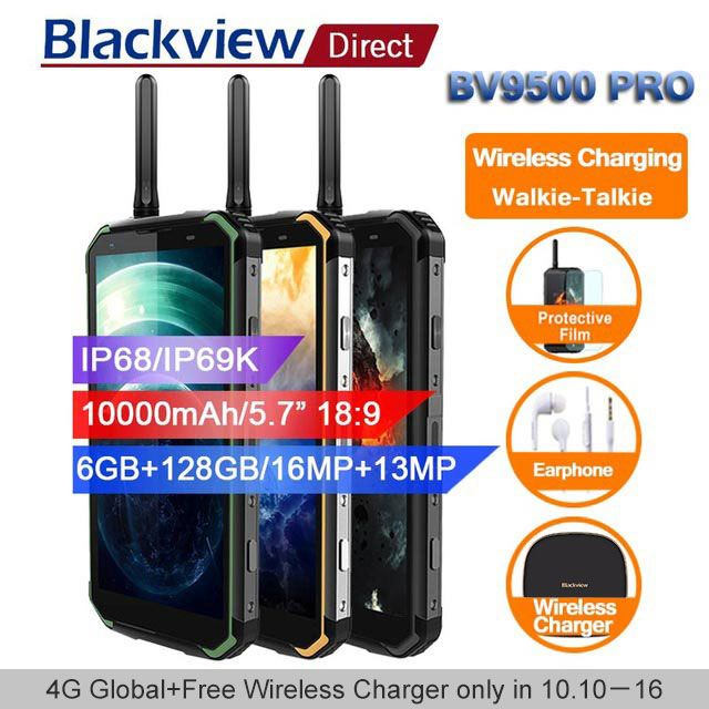 Blackview BV9500 pro 10000mAh IP68 Waterproof Smartphone android 8.1 5.7
