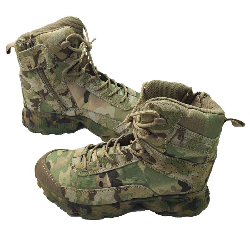 CP Camo 8'' Men's Special Forces Jungle Camofluage Boot Military Boots Tactical Combat Boots W/ Zipper on Side for Outdoor
