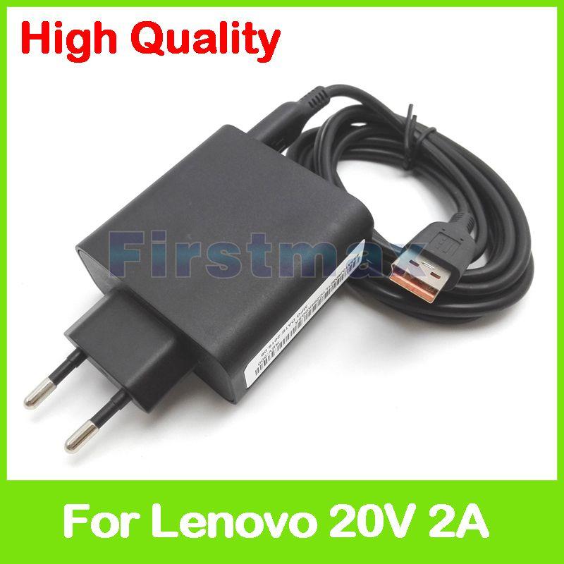 20V 2A 5.2V 2A USB AC Power Adapter for Lenovo Yoga 3 Pro Ultrobook tablet charger 36200572 ADL40WDA ADL40WDB 36200573 EU Plug
