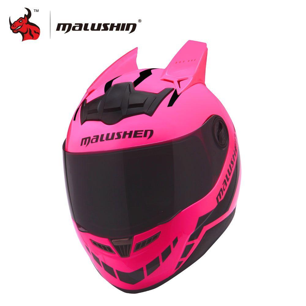 MALUSHUN Motorcycle Helmet Women Flip Up Motocross Helmet Moto Helmet Capacetes De Motociclista Novelty Casque Moto ABS Material