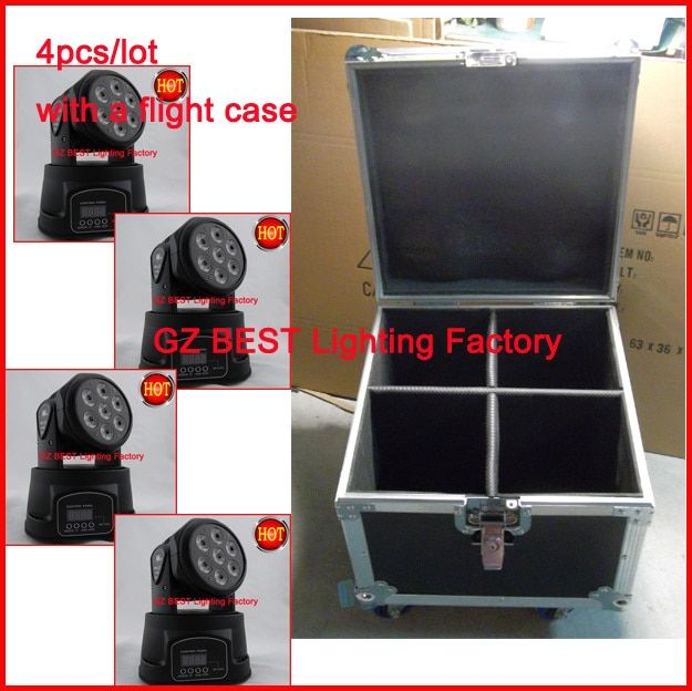 2018 flight case and lights led mini moving head wash led rgbw moving head 7x 4IN1