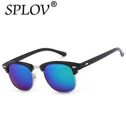 Demi-Métal de Haute Qualité lunettes de Soleil Hommes Femmes Marque Designer Lunettes Miroir Lunettes de Soleil De Mode Lunettes Oculos De Sol UV400 Classique