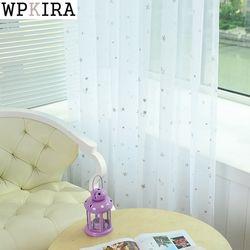 Белые Звезды Тюль занавески современные занавески для гостиной прозрачные тюлевые шторы оконные портьеры, гардины для спальни 234 и 20