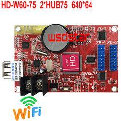 HD-W60-75 Penuh Warna LED WIFI Kartu 640*64 2 * HUB75B USB & Wifi RGB Warna Asynchronous LED kartu W60-75 10 Buah/BANYAK