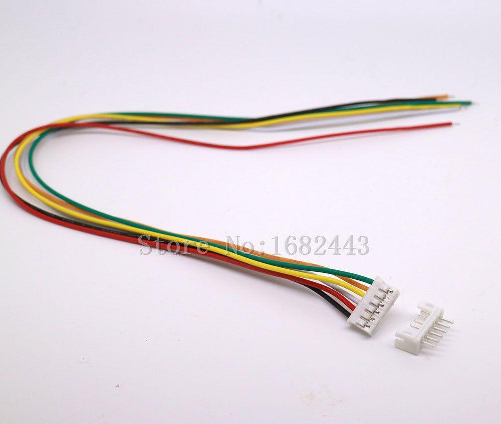 50 ensembles Micro JST 2.0 PH 6 broches mâle et femelle connecteur prises 300mm fils câbles