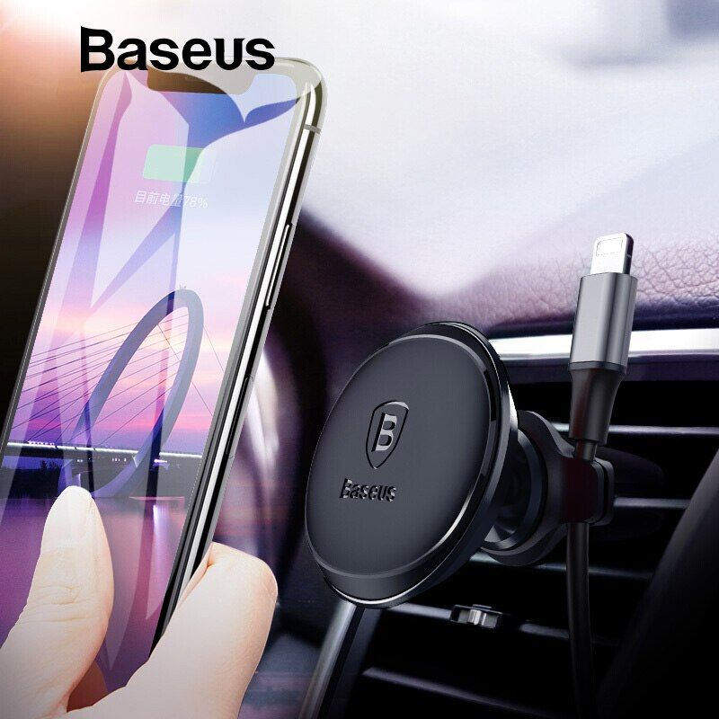 Baseus Magnetic Car Phone Holder For iPhone Samsung Magnet Mobile Phone Holder Stand Air Vent Mount Car Holder & Cable Organizer