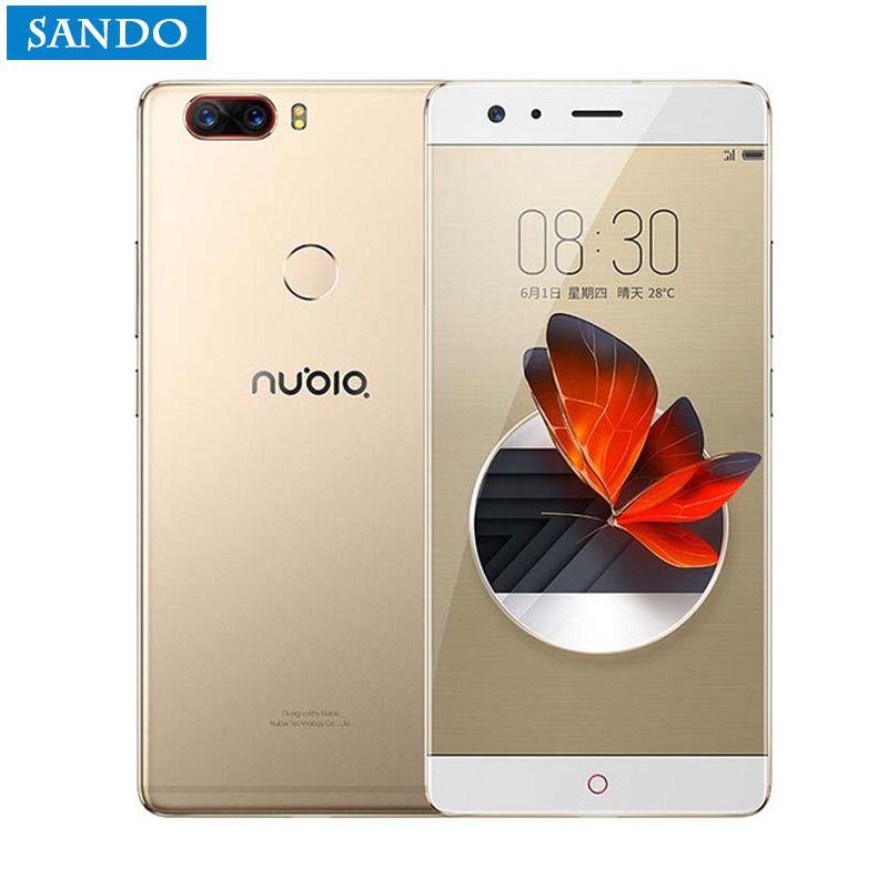New ZTE Nubia Z17 Borderless 6GB/8GB RAM 64GB/128GB ROM Cell Phone Android 7.1 Snapdragon 835 Octa Core 5.5 Dual SIM 23.0MP