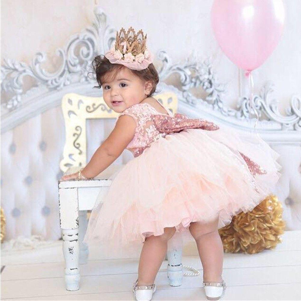 Superbe bébé événements fête porter Tutu Tulle infantile robes de baptême robes de princesse pour enfants pour filles robe de soirée enfant en bas âge
